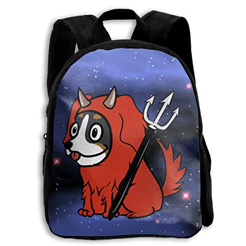 Mountain Dog Scary Devil Backpack Daypack BookBags Shoulder Schoolbags Travel Bags For Boys And Girls ()
