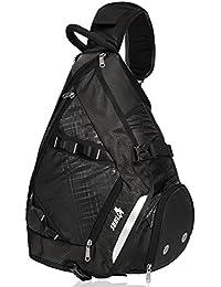 32L Oversized Sling Bag Backpack with Shoe Pocket, Lightweight Shoulder Crossbody Backpack Chest Bag Gym Backpack for Men & Women