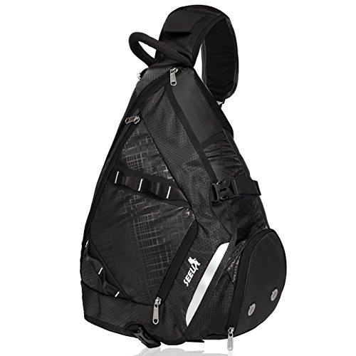 SEEU 32L Oversized Sling Bag Backpack, Crossbody Chest Gym Backpack Outdoor Hiking Travel Bag for Men Women Kids