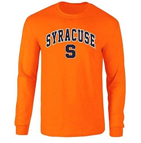 Syracuse University T-shirt - Elite Fan Shop Syracuse Orange Long Sleeve Tshirt Arch Orange - L