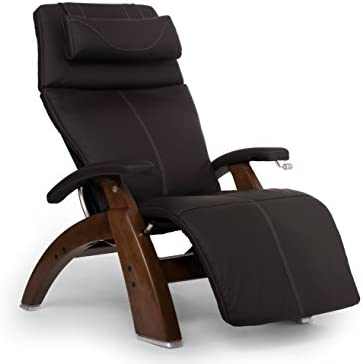 "Perfect Chair ""PC-420"" Top Grain Leather Hand-Crafted Zero-Gravity Walnut Manual Recliner"