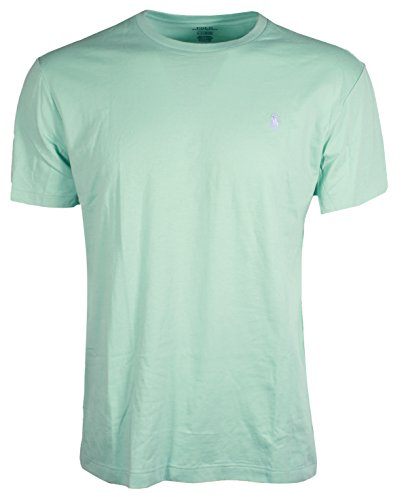 (Polo Ralph Lauren Men's Classic Fit Crew-Neck T-Shirt Cotton (Large, Green (Light Purple Pony)))