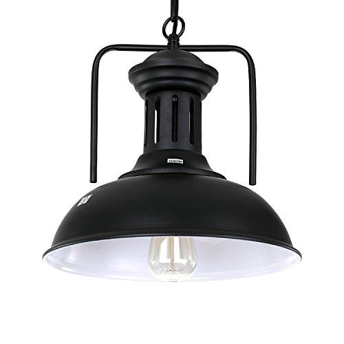 PAUWER Industrial Pendant Lights Fixture Retro Vintage Ceiling Barn Light  Shade Kitchen Pendant Hanging Lamp (Bulb Not Included)     Amazon.com