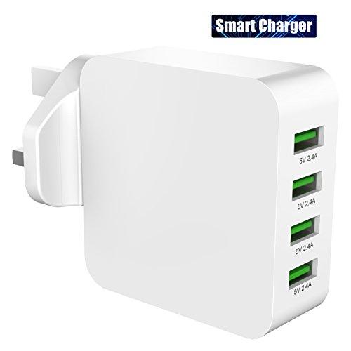 USB Charger, Splaks Universal Smart Charger 40W/5V 8A 4 USB Port UK Wall...