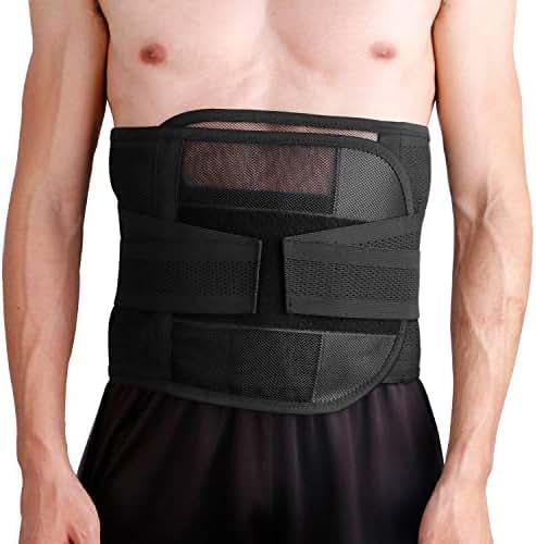 Htwon Waist Trainer for Women & Men, Ultra Breathable Waist Trimmer Belt Sweat Wrap, Adjustable Ab Sauna Belt Stomach Fat Burner Wrap for Sports Exercise Slimming Shaping