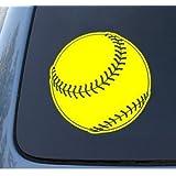 SOFTBALL - Car, Truck, Notebook, Vinyl Decal Sticker #1303   Vinyl Color: Yellow