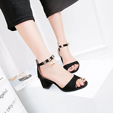 XY GK Donna Sandali Estate con grossa sandali High-Heeled piede femminile  cinturino da polso Borsa 2d7b5e0c106