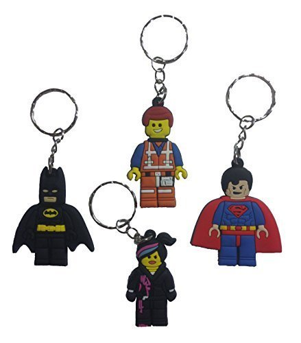 Lego Movie Keychains 4 Pcs Set #1 (Lord Of The Rings Shoes)