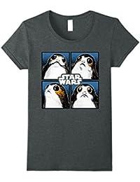 Last Jedi Porgs Four Portraits Vintage T-Shirt