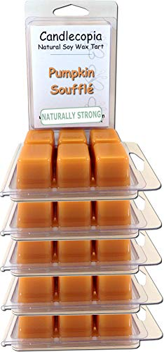 Candlecopia Pumpkin Soufflé Strongly Scented Hand Poured Vegan Wax Melts, 36 Scented Wax Cubes, 19.2 Ounces in 6 x 6-Packs