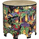 Remo Kids Gathering Drum with Mallets in lovely Rainforest Design (21 x 22 inches; Age 5+)