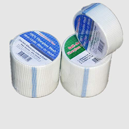 YIKAI Self-Adhesive Fiberglass Mesh Backeboard Joint Alkali Resistent Mesh Construction Tape Roll - 4