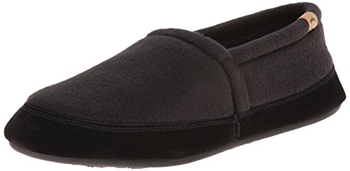 ACORN Men's Moc Slipper, Black, X-Large/12-13 M US