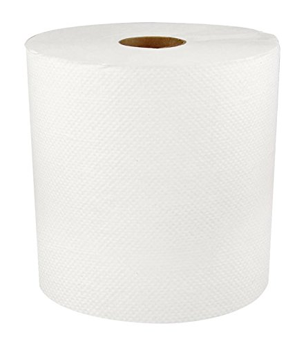 Colour Roll - Mayfair 183211 Hardwound Roll Towel, Universal Roll Towels, White Color, Roll is 7.8