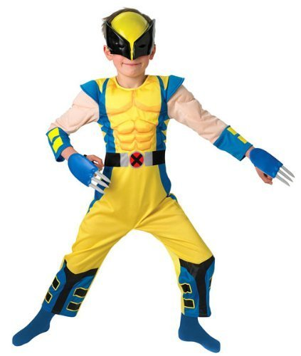 Child Deluxe Wolverine Costumes (Small Boys Deluxe Padded Wolverine Costume)