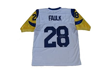 Image Unavailable. Image not available for. Color  Marshall Faulk Signed St  Louis Rams WHITE Jersey JSA 814f5890d