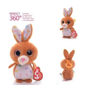 Amazon.com: Oficial de TY Petunia conejo café conejo TY ...