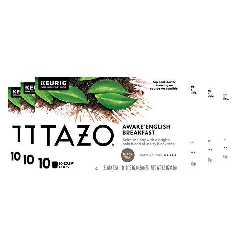 Tazo Awake English Breakfast K-Cup Pods For a Bold Traditional Breakfast-Style Tea Black Tea Caffeinated Tea Morning…