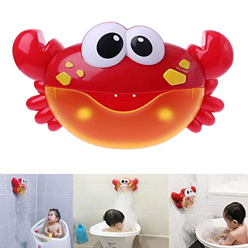 CHILEELOVE Bath Bubble Maker,Automatic Bubble Blower Machine,Crab Shape with 12 Nursery Songs for Children Baby Boys Girls Funny Washing Toy,Powered by Battery
