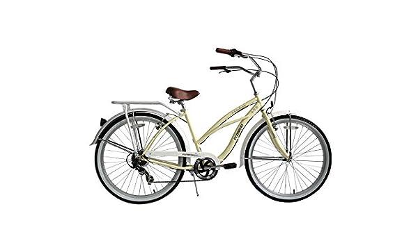 ECOSMO 66,04 cm ruedas nuevas señoras/bicicleta playera Lowridger ...