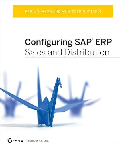 Amazon com: Configuring SAP ERP Sales and Distribution eBook