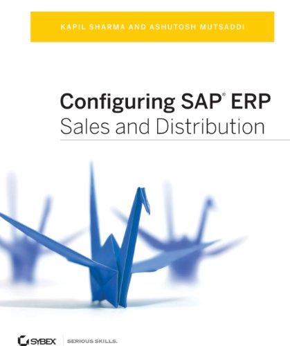 Configuring SAP ERP Sales and Distribution Pdf