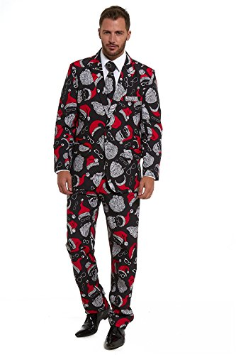 New Stag Do Christmas Xmas 2018 Suit Fancy Dress Stand Out Costume (Christmas Xxl Ugly Suit)