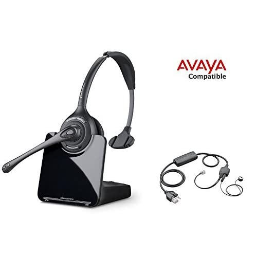 Avaya Compatible Plantronics CS510 VoIP Wireless Headset Bundle with Electronic Remote Answer|End and Ring