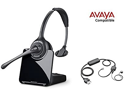 3b23fdd7e913b1 Avaya Compatible Plantronics CS510 VoIP Wireless Headset Bundle with  Electronic Remote Answer End and Ring alert (EHS) for Avaya Phones  1600,  9600 IP ...