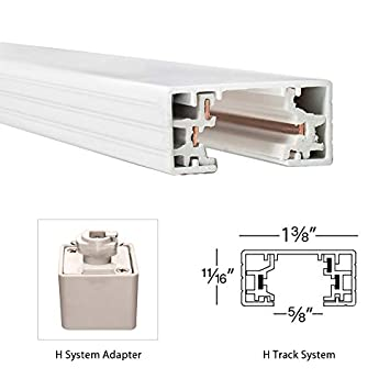 White WAC Lighting HLE-WT H Track Live End Connector