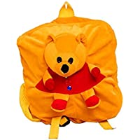 Deal Especial Soft Synthetic Toy Beautiful Velvet Kids School/Nursery/Picnic/Carry/Travelling Bag for Boys and Girls (3 to 5 Years, 14-inch)