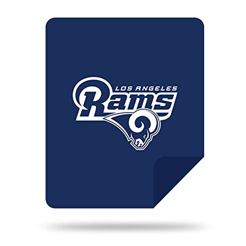 Officially Licensed NFL Los Angeles Rams Denali Silver Knit Throw Blanket, Millenium Blue, 60