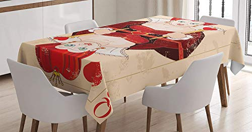 Alice in Wonderland Decorations Tablecloth,Queen of Cards Playing Alice Character Flash Fiction Fairy Tale,100% Polyester Tablecloths for Rectangle Tables,45W X 84.5L Inch Brown Ecru