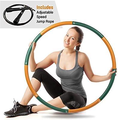 just be........./® Aro de Fitness Hula Hoop para Ejercicios f/ísicos