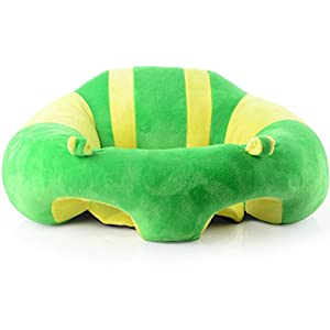 pinnacleT1 Baby Cartoon Animal Plush Sofa Seat Soft Bean Bag Chair Seat Cartoon Kids Chair for Christmas/Children's day Gift (Green)
