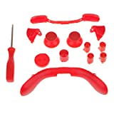 xbox 360 bullet buttons - Baoblaze Thumbsticks Bullet Buttons Set Replacement for Xbox 360 Controller Red