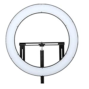 FALCON EYES DVR-160TVC 32W Ring LED Panel 3000-5600K Bi-Color Lighting Video Film Continuous Light W/Camera Bracket/ Filter Stepless Dimmer Control For News Anchor for Ranger Quadra Video Recording