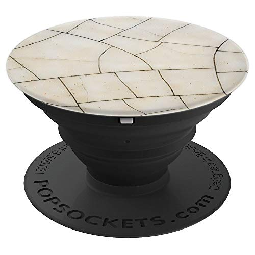 Glazed Antique - Antique art deco cracked glazed ceramic - PopSockets Grip and Stand for Phones and Tablets