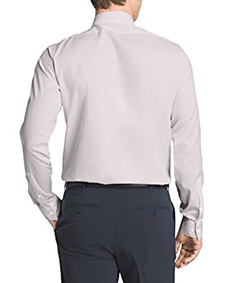 Calvin Klein Men's Non-Iron Solid Herringbone Shirt