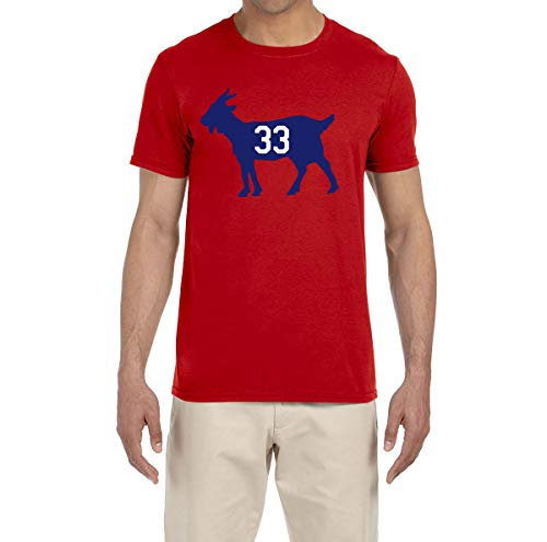 (Tobin Clothing RED Montreal Roy Goat T-Shirt Adult Large)