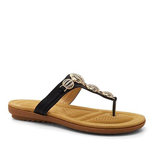 à l'arrière femme noir Noir Ouvertes London Footwear taqZEE
