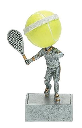 Borla de tenis cabeza trofeo/Bobblehead premio: Amazon.es ...