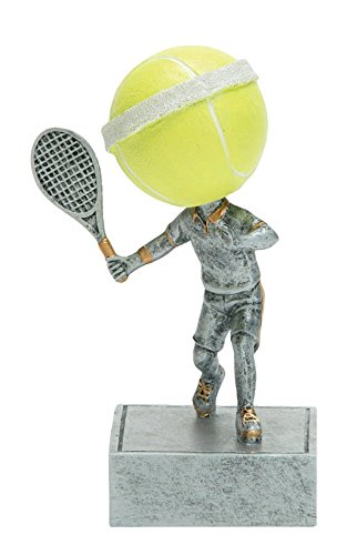 (Decade Awards Tennis Bobblehead Trophy | Fast Serve Bobblehead Award | 5.5 Inch Tall - Free Engraved Plate on Request)