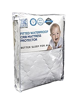 Waterproof Crib Mattress Cover | Protector and Sheet | Hypoallergenic & Breathable Cotton, Thin, Smooth & Elastic Fabric For A Snug Fit | Protects Baby,Toddler Against Dust Mites & Fluids by Huierjia International Trade co. Ltd