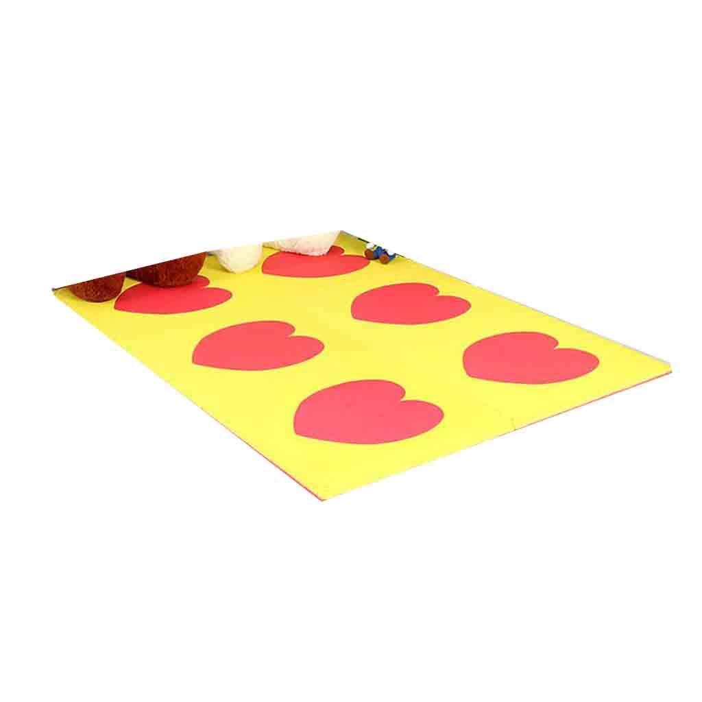 xy Alfombras Estera De Espuma De Doble Cara Espesador Grande 2 Cm Puzzle Pad Tapete para Niños Rastreador De Una Sola Pieza 60 Cm 6 Piezas por Juego (Color : A)