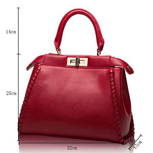 25 de 128cm Vin Sac de à des d'épaule Couleur en Vin 32x25x17cm en la Longueur Sac Femmes Taille Courroie Mode bandoulière fourre Mode Tout Rouge 17cm Rouge Cuir à Cuir d'épaule 32 1U1FwZzS