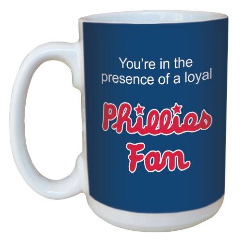 (Tree-Free Greetings lm44097 Phillies Baseball Fan Ceramic Mug with Full-Sized Handle, 15-Ounce)
