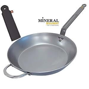 De Buyer - Sartén Mineral B Element Hierro + Protector de Mano, 32 ...