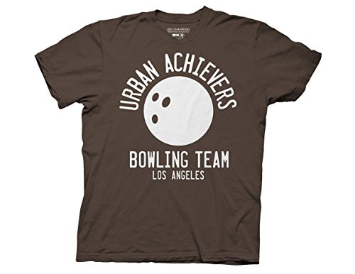 Ripple Junction Big Lebowski Urban Achievers Bowling Adult T-Shirt Medium Medium Brown
