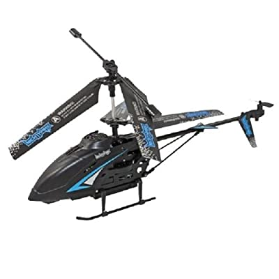 "Odyssey Flying Toys 12"" Nighthawk Helicopter with Built in Camera, Black with Blue Trim by Odyssey Flying Toys"